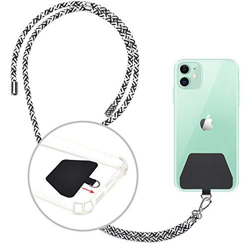 takyu ショルダーストラップ,スマホストラップ スマートフォン落下防止 忘れ物防止 iPhone/Android/Xperia/GALAXYに適用 (黒白)