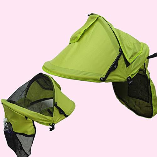 Toldo universal para cochecito, parasol para cochecito, protección UV, verde