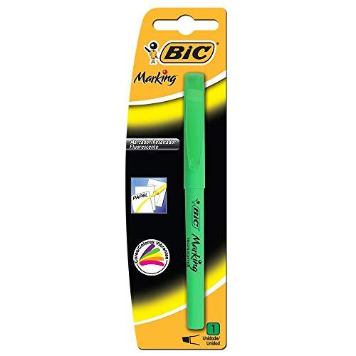 Marcador de Texto Fluorescente BIC Marking, Ponta Chanfrada, 1.5 - 3.5mm, Verde, 854812, 1 Unidade