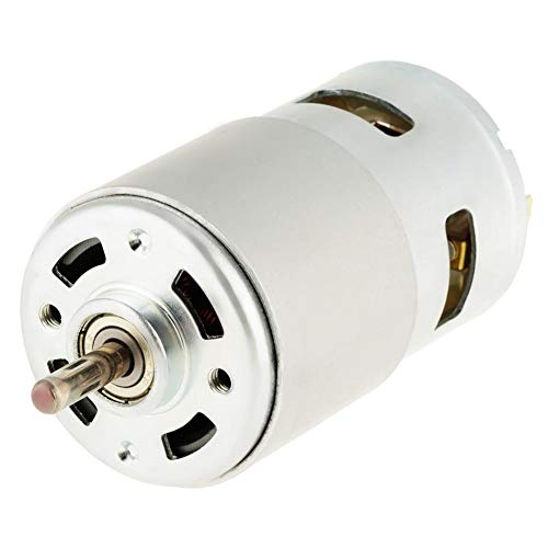 DC 12V 775 Motor eléctrico de Alta Potencia Cepillado 16mm Eje Micro Motor de Repuesto cilíndrico para Juguetes de Ventilador eléctrico (12000RPM)