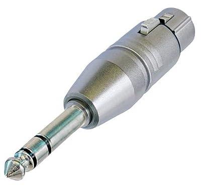NA3FP 3 Pin XLR Female to 6.35mm Stereo Jack Plug Adaptor
