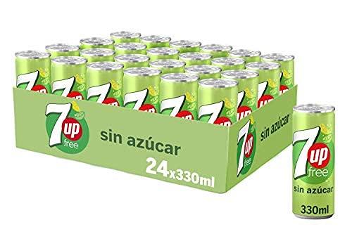 Seven Up Refresco de Lima Limón sin Azúcar - Pack de 24 (24 x 330.00 ml), 24 x 330 ml