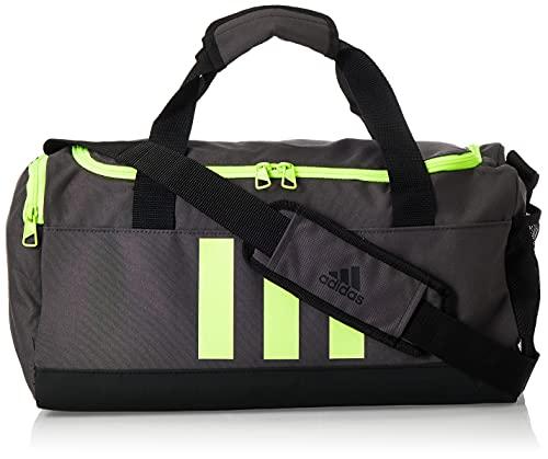 adidas GN2043 3S DUFFLE S Borsa sportiva Unisex - Adulto dgh solid grey/black/solar yellow NS