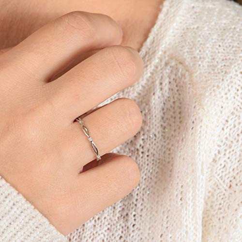 YourAsteria - Minimalist Silver Ring Pattern Weddi Jacksonville Mall With Celtic Our shop OFFers the best service