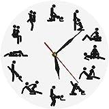 LKLFC Reloj de Pared 24 Horas Reloj de Pared Sexual Reloj de
