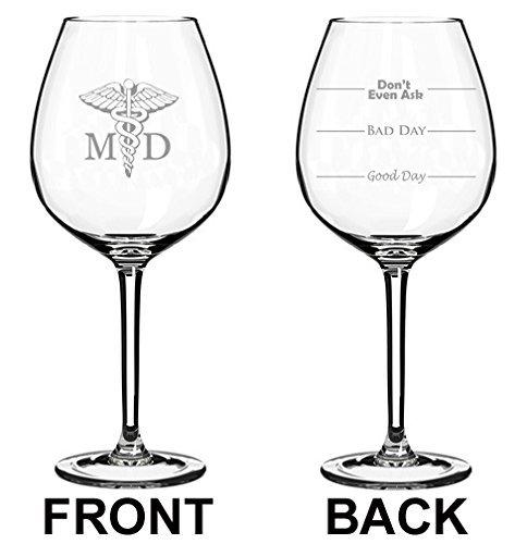 Copa de vino jumbo, de dos caras, con texto en inglés