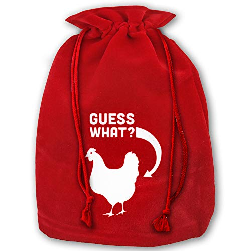 Guess What Chicken Butt Velvet Gift Bag with Drawstring for Christmas Wedding Jewelry Pouches -  YUYANYANYY, RSJDHSJD-LPD-85835859