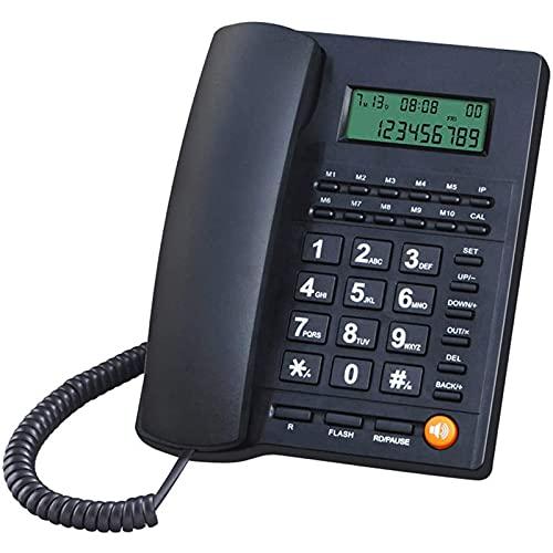 VERDELZ Teléfono Fijo Fijo Teléfono De Identificación De Llamadas con Cable con Altavoz para El Hogar Y La Oficina Teléfono Fijo con Cable Teléfonos De Escritorio Analógicos Simples