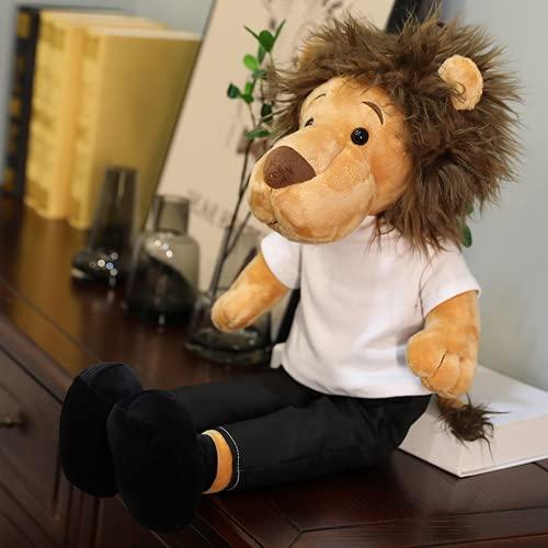 Niedliche Löwe männliches Plüschspielzeug Kleiner Löwenkissen Puppe Schlafkissen QueenBettPuppe, um Mädchen zu schicken