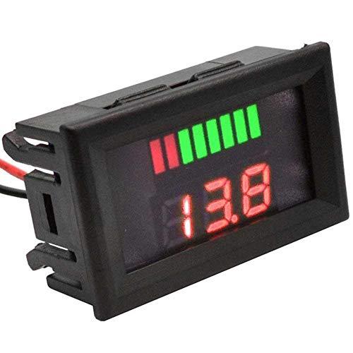ARCELI Car Marine Moto LED Voltmetro Digitale Voltmetro Indicatore di Livello Batteria 12V-60V (Rosso)