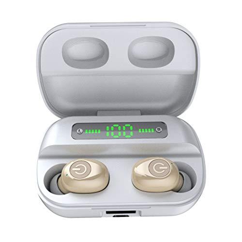 Eariy Bluetooth KopfhöRer, Tws 5.0 Stereo Digitalanzeige Tws Earphones In-Ear FunkkopfhöRer OhrhöRer Stereo Sport Headset Mit Mikrofon, Kompatibel Mit Iphone, Samsung, Huawei, Android, Ios