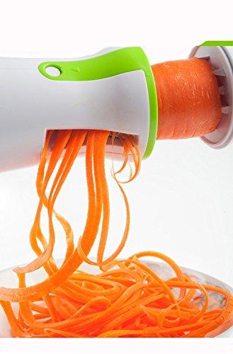 keynis Coupe-légumes spirale main pour légumes Pommes de terre à spaghetti, courgettes Éplucheur à asperges, Schneider, concombre éplucheur, la carotte concombre Râpe Éplucheur de carottes Mandoline vert