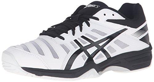 ASICS Men's Gel-Solution SLAM 3 Tennis Shoe, White/Black/Silver, 11.5 M US