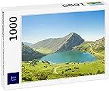 Lais Puzzle Panorama del Lago Enol en los Picos de Europa, Asturias, España 1000 Piezas