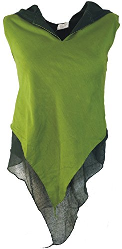 Guru-Shop Feen Elfen Zipfel Top MA-14, Damen, Henna, Baumwolle, Size:S/M (36), Tops & T-Shirts Alternative Bekleidung
