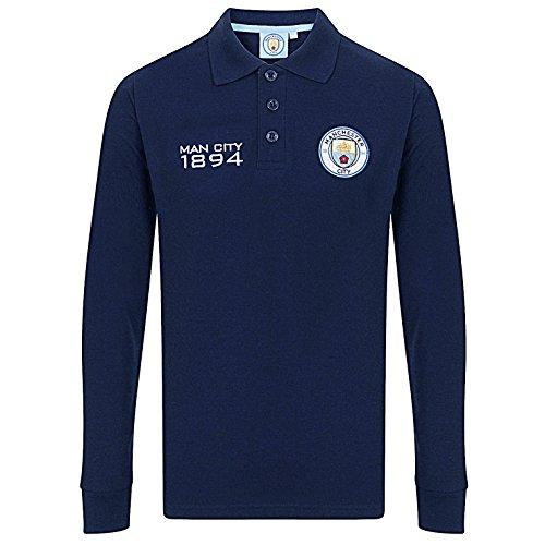 Manchester City FC - Polo de manga larga oficial - Para niño - 10-11 años