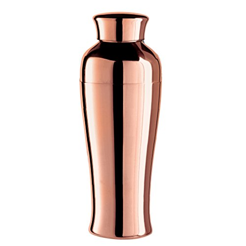 Oggi Plated Mirror Finish Tall & Slim Cocktail Shaker, 0.75 L/26 oz, Copper