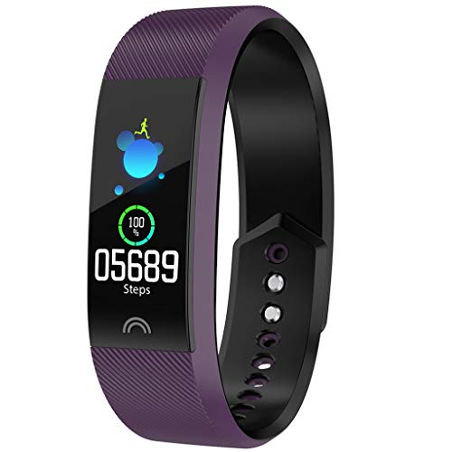 Dolloress Smart Bracelet -Fitness,Activity Tracker Watch with Heart Rate Monitor, Pedometer, Sleep Monitor, Sports Modes, Waterproof for Kids Women Men