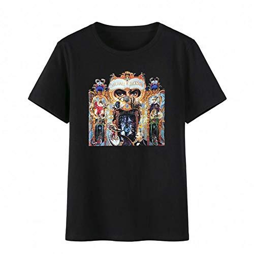 Michael Jackson Dangerous Top Baumwolle T-Shirt Tee Top Royal Casual T-Shirt Unisex (L, Dangerous)
