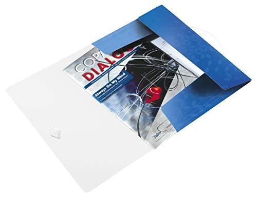 Leitz 45990036 Eckspannermappe wow, A4, PP, blau metallic