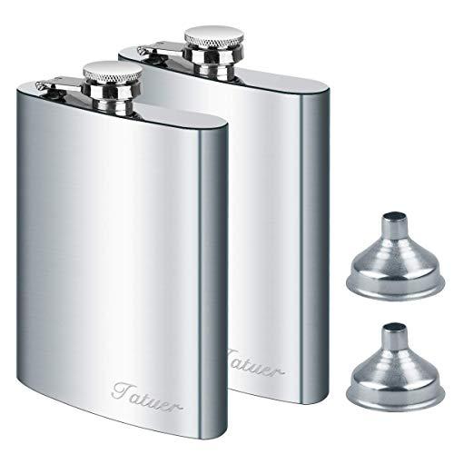 DealKits Petacas de Alcohol, Petacas de Licor Acero Inoxidable para Hombres Frasco y Embudo de Cadera, Adecuado para Transportar Alcohol (2 Pack)