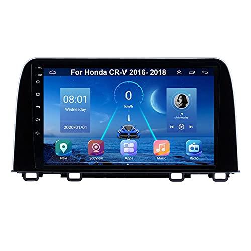 Android 10 Radio De Coche 9 Pulgadas Pantalla Tactil Para Coche Para Honda CR-V 2016-2018 Android Auto Coche Conecta Y Reproduce Coche Audio FM/Am/RDS Video SWC Cámara Trasera