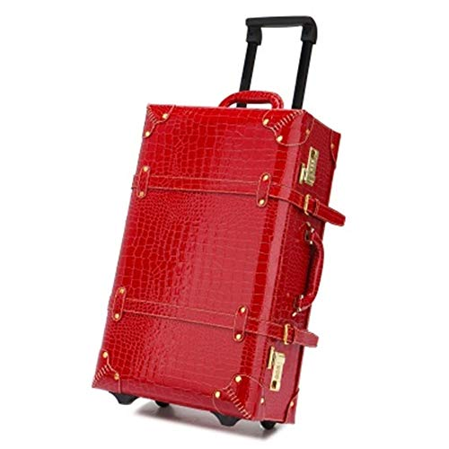 Buy Lightweight Expandable Travel Luggage Carry On 20 Inch Vintage Cabin Travel Bag Shoulder Bags Re...
