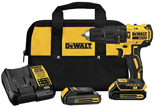 DEWALT DCD778C2 20V MAX Brushless 1/2 in. Compact Cordless Hammer Drill/Driver Kit