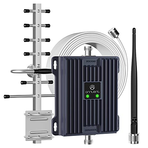 ANNTLENT Amplificador de señal de teléfono móvil 4G LTE para el hogar/Oficina/Hotel, amplifica band20 / 7, 800 / 2600MHz para Mejorar la señal de Red.
