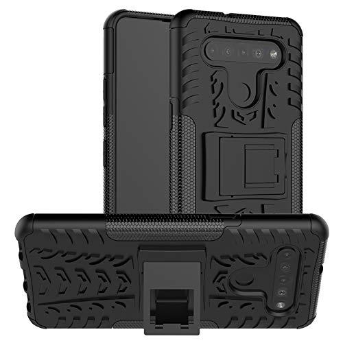 LiuShan Kompatibel mit LG K51S Hülle,LG K41S Hülle, Dual Layer Hybrid Handyhülle Drop Resistance Handys Schutz Hülle mit LG K51S /LG K41S Smartphone,Schwarz