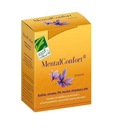 100% Natural MentalConfort complemento alimenticio 60 cápsulas