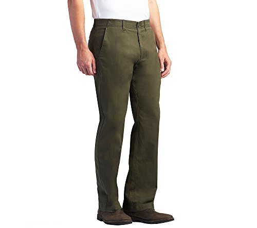 LEE Xtreme Comfort Khaki Stretch Straight Fit Flat Front Pant Forest 42x34
