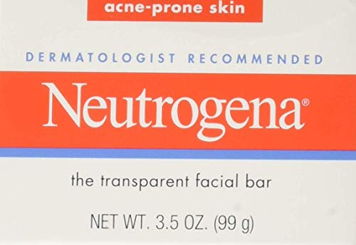 Neutrogena Original Gentle Facial Cleansing Bar with Glycerin, Pure & Transparent Face Wash Bar Soap, Free of Harsh Detergents, Dyes & Hardeners, 3.5 oz (Pack of 3)