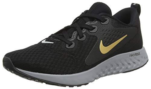 Nike Wmns Legend React, Zapatillas de Running para Mujer, Negro (Black/Metallic Gold/Atmosphere 004), 38 EU