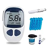 Lolicute Blood Glucose Monitor Kit,Electronic Glucometer Digital Handheld Diabetes Test Meter Monitor Kit with 50 Free Test Strips,50 Lancets and 1 Lancing Device (Blood Glucose Monitor)