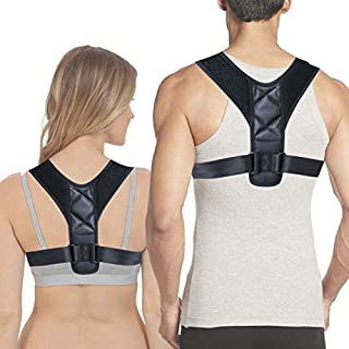 Back Brace Posture Corrector for Men and Women – Adjustable Upper Back Brace Posture Support for Clavicle – Neck and Shoulder Pain Relief, Increased Mobility – Breathable and Lightweight