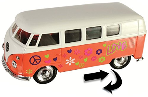 Modellauto VW T1 - Flower Power Edition - ca. 12 cm