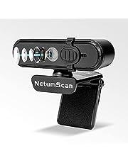 Amazon限定ブランド AutoFocus 1080P 60FPS Webカメラ、プライバシーカバー付き、NetumScan HD USBコンピューターWebカメラ、内蔵デュアルノイズリダクションマイク、PCデスクトップまたはラップトップ用、ストリーミング/ズーム/OBSゲーム/Skype/FaceTime/Teams