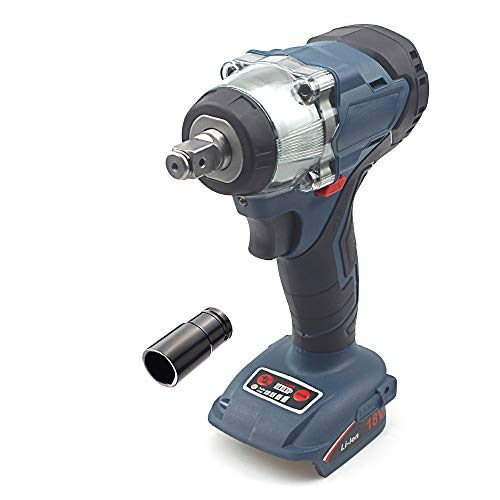 QUPER Cordless Impact Wrench, Includes Direction Control & Variable Speed Trigger & LED Job Light(½' Square Drive, 350Nm Torque)