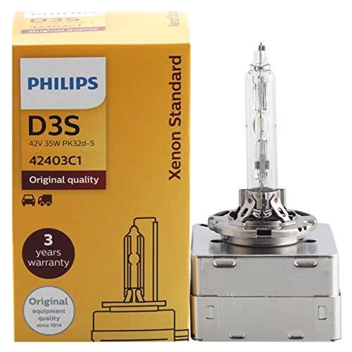 Philips D1S D2S D3S D4S HID 85415 35W Xenon Standard Head Lamp 4200K luz blanca brillante Auto Original foco ECE Approve 100% auténtico 1 paquete