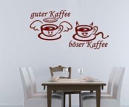 Wandtattoo gute böser Kaffee Küche Tattoo Wand Sticker Wan