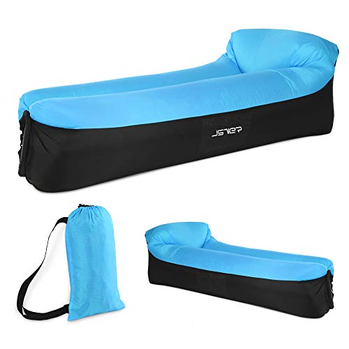 JSVER Inflatable Lounger Air Sofa with Portable Package for...