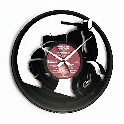 Disc'o'clock Orologio da muro in vinile Vespa