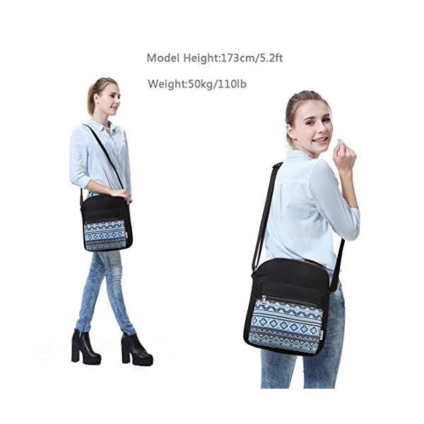 Messenger Bag for Girls, Vintage Small Lightweight Canvas Crossbody Bag for Women Fits Water Bottle 4