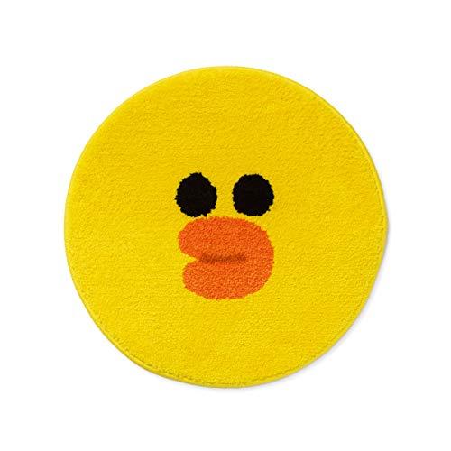 Line Friends Teppich – Charakter Face Fußmatte gelb