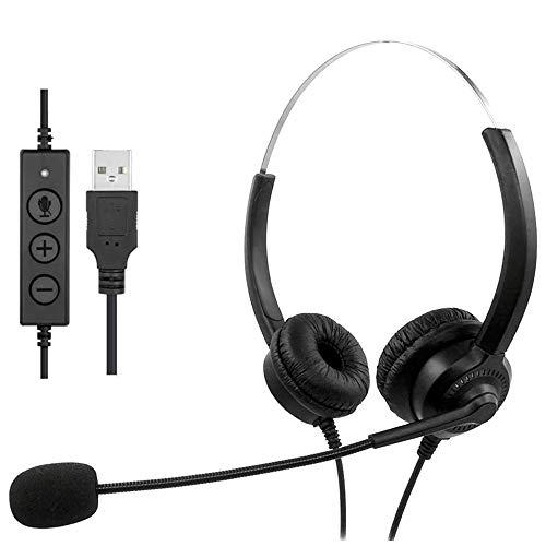 Computer-Headset, USB-Headsets mit Mikrofon, kabelgebundenes Call...
