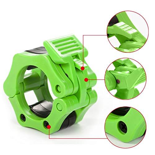 Tree-on-Life Ein Paar Barbells Lock Jaw Gewichtheberhalsbänder Schnellverschluss-Nylon-Verriegelungsklemmen Muscle Training Bar Lockjaw 2