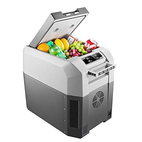 DHTOMC Refrigerador de coche compacto portátil refrigerador congelador 24L, mini caja fría eléctrica igloo 12/24V, cosméticos, alimentos, bebidas, vino, viajes, camping, picnics kshu
