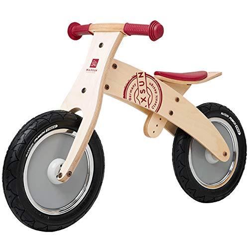 SJZX Bicicleta Sin Pedales Equilibrio Madera NiñOs Asiento Ajustable Bici Entrenamiento 2 A 6 AñOs 5945