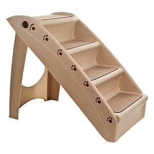 PETMAKER Folding Plastic Nonstick Pet Stairs, Durable Indoor or Outdoor